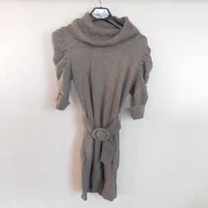 Brown sweater with belt by Forever 21